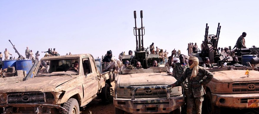 Members of the Rapid Support Forces in South Darfur, April 28, 2015 (File photo)