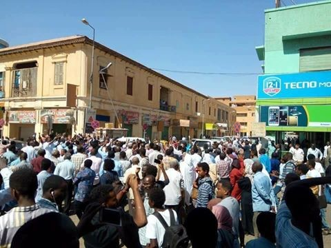 A protest in the streets of Khartoum against the price increases, on January 16 (RD)