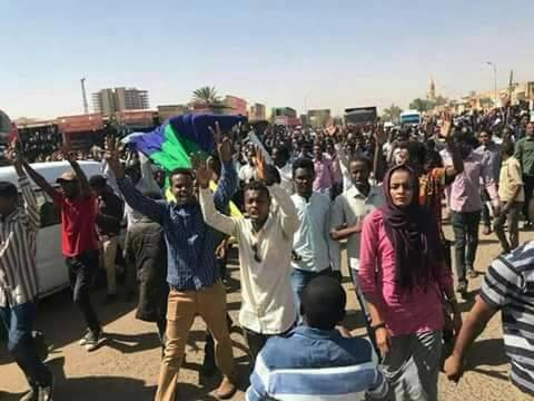 Mass march in Khartoum on 16 January (RD)