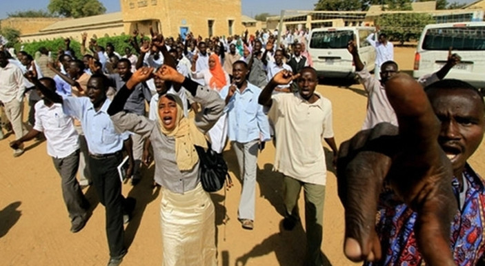Protests broke out in Sudan in January 2018 against the soaring prices of basic consumer goods (AFP)