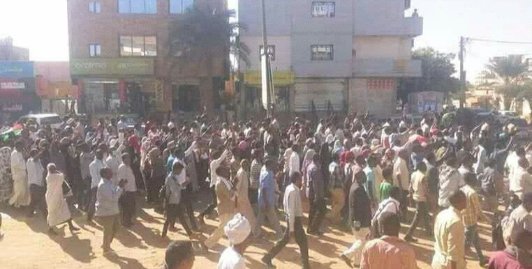 A peaceful protest march against rising prices in Khartoum North last week (File photo RD)