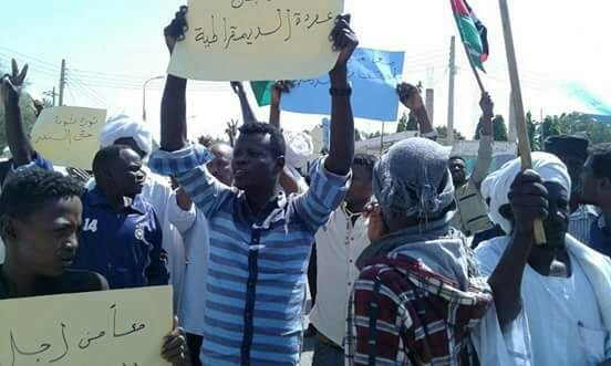 Protesters in Singa, Blue Nile state, on Wednesday January 31 (RD)