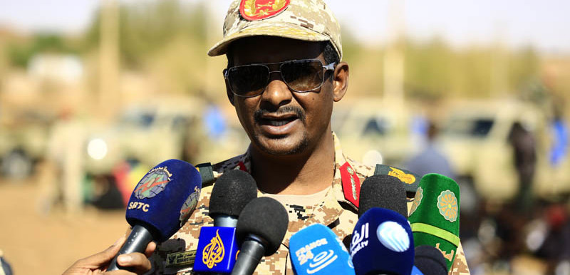 Gen. Mohamed Hmadan (Hemeti), Commander of the Rapid Support Forces (SUNA).
