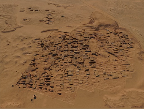 The archeological site of Sedeinga in northern Sudan (Vincent Francigny)