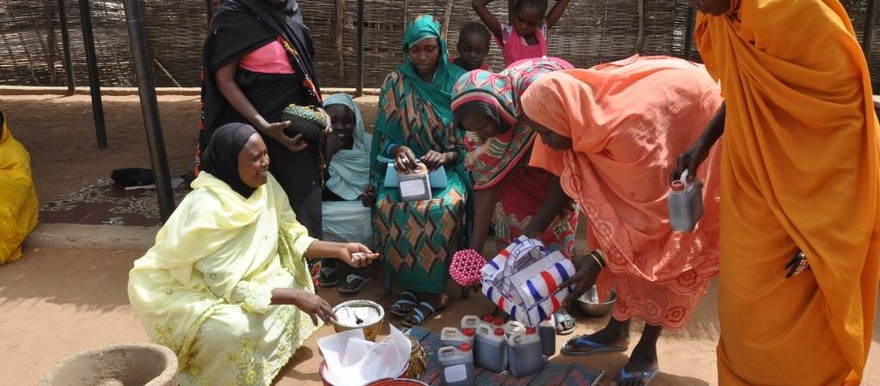 Women supported by a UNDP programme in Otash camp, Nyala (UNDP)