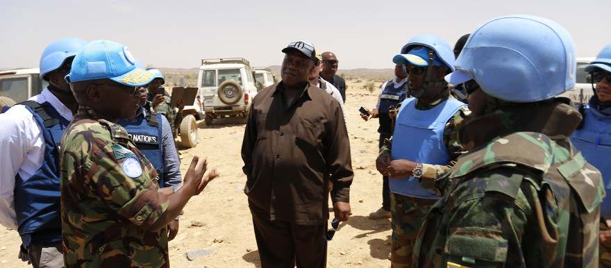 Unamid Joint Special Representative Jeremiah Mamabolo visits Golo on 19 May 2018 (Photo: Amin Ismail / Unamid)