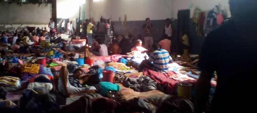 Sudanese detainees held in the Tajoura accommodation centre in Libya (picture taken July 2018/RD)