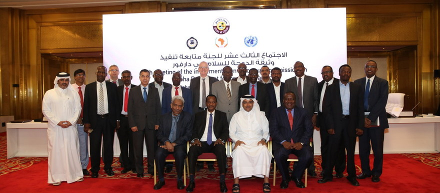 13th meeting of the Implementation Follow-up Commission of the Doha Document convenes in Qatar. Dr Amin Hassan Omar was among the high-ranking Sudanese officials present at the meeting (Unamid)