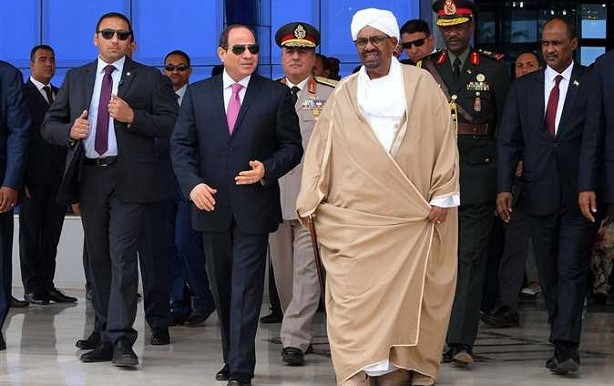 Egyptian president Abdelfattah Al Sisi pays a two-day visit to Khartoum, July 20, 2018 (almasryalyoum)