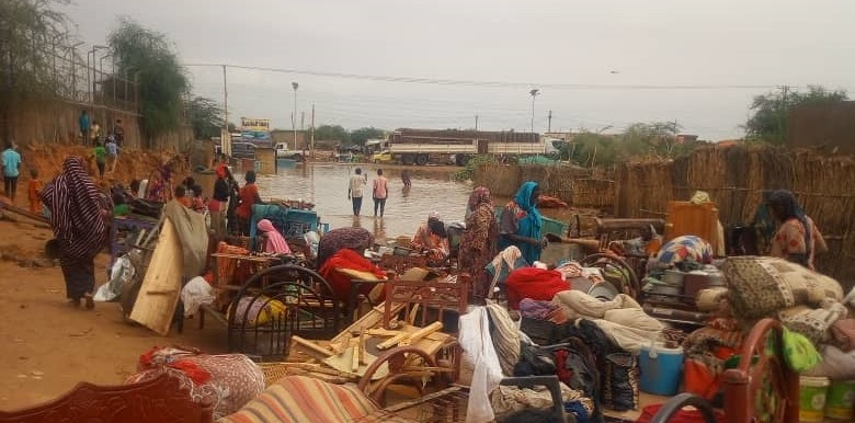 Heavy rainfall in El Fasher, capital of North Darfur, destroyed dozens of houses, July 28, 2018 (RD)