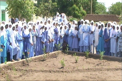 A girls' school in El Hasahisa camp, Central Darfur (file photo)