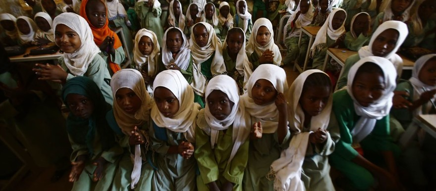 Schoolgirls in Sudan (File photo)