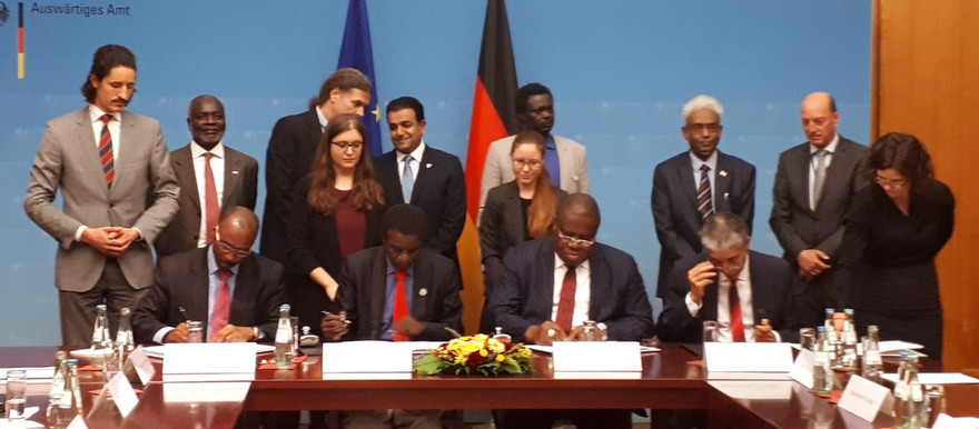 The signing ceremony in Berlin today