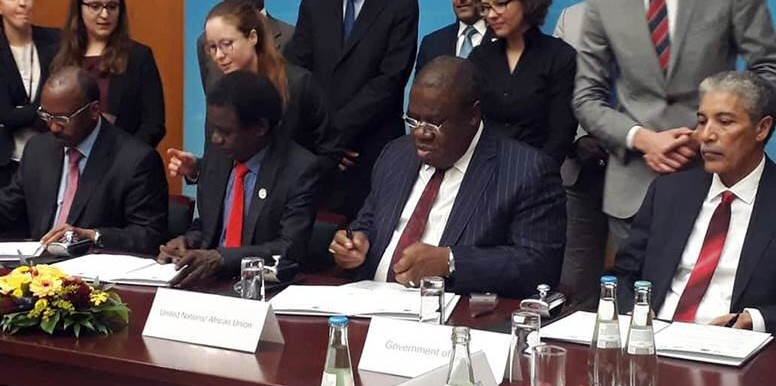 On 6 December 2018, the Government of Sudan, JEM and SLM-MM signed a pre-negotiation agreement in Berlin, Germany, to pave way for talks on substantive issues on the basis of the Doha Document for Peace in Darfur. Unamid Joint Special Representative and Joint Chief Mediator, Jeremiah Mamabolo witnessed the occasion. (Unamid)