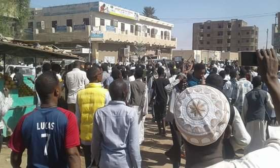 The start of the uprising - protest march in Atbara in December 2018