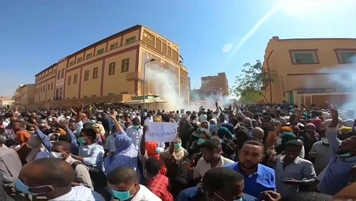 Protest in Port Sudan on January 3