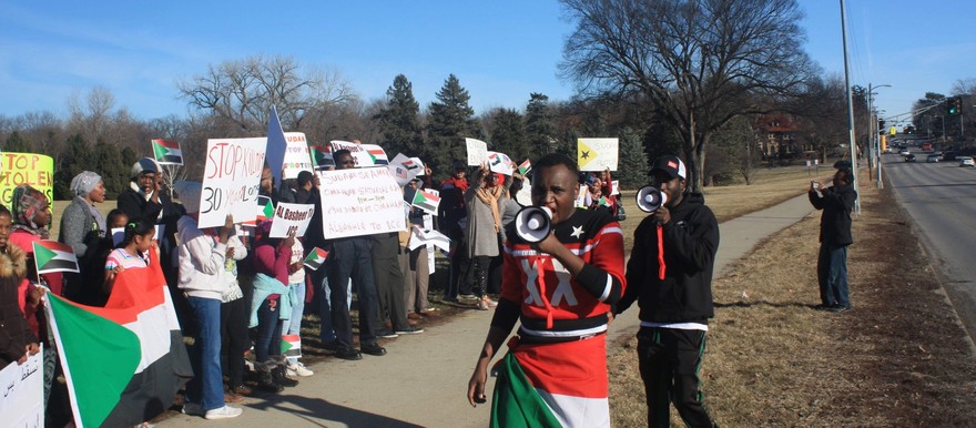 Rally in Omaha, Nebraska takes place to support people in Sudan protesting and demanding change on January 6, 2019 (file photo)