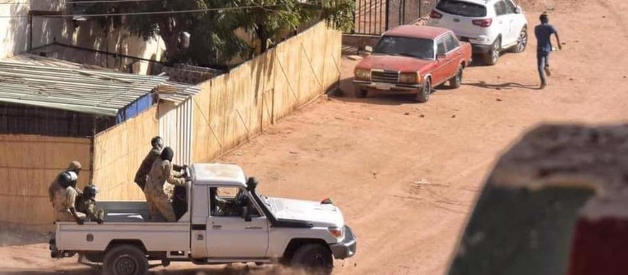 In Burri, eastern Khartoum, security forces appear to chase after a protestor on January 6 2019 (file photo)