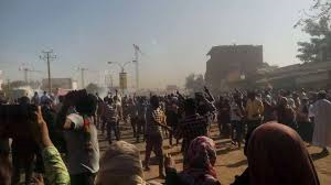 Demonstrators in Khartoum (file photo)