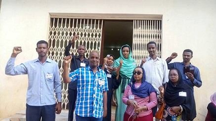 Protesting journalists in Sudan in January (file photo)