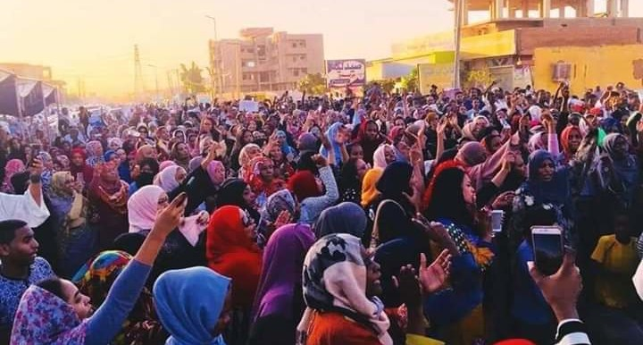 Mass protest in Sudan