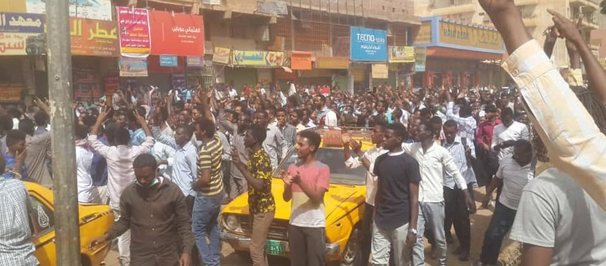 One of the protests in Khartoum on February 7 (RD)