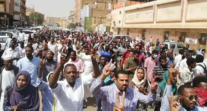 A demonstration in Khartoum earlier this year.