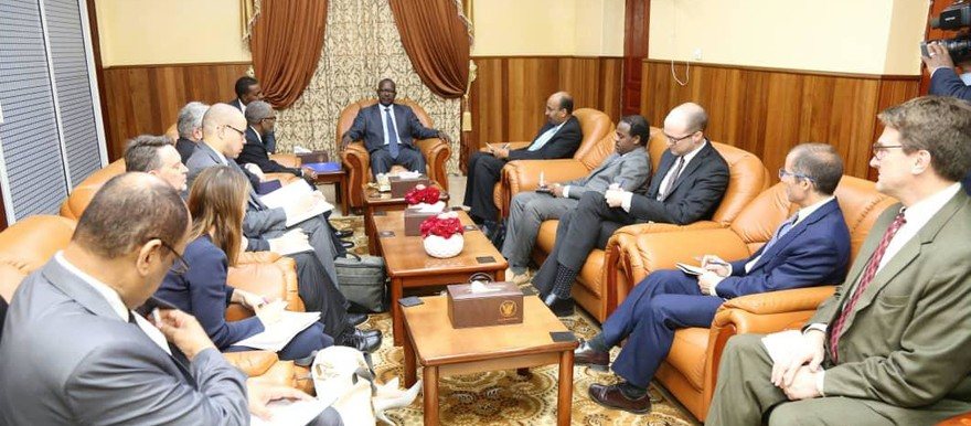 On 18 February in Khartoum: Special aide to the US President and top adviser for Africa at the National Security Council, Cyril Sartre, in a meeting with Assistant to the President Feisal Ibrahim (Suna)