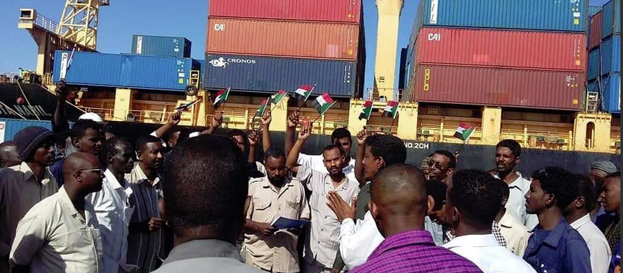 Port Sudan strikers on February 18