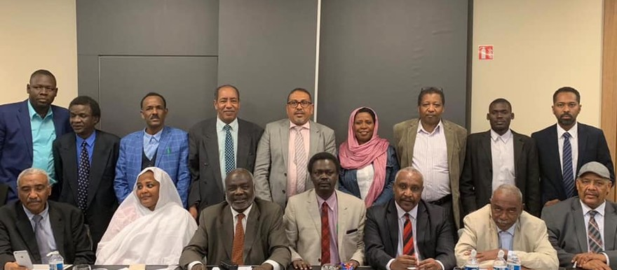 The Sudan Call alliance leadership at the Paris meeting this week