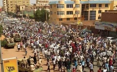 Demonstration in Khartoum this afternoon