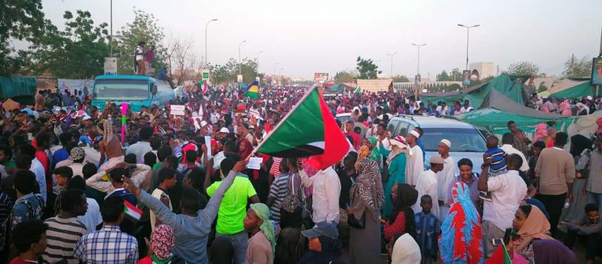 March of academics in Khartoum this week