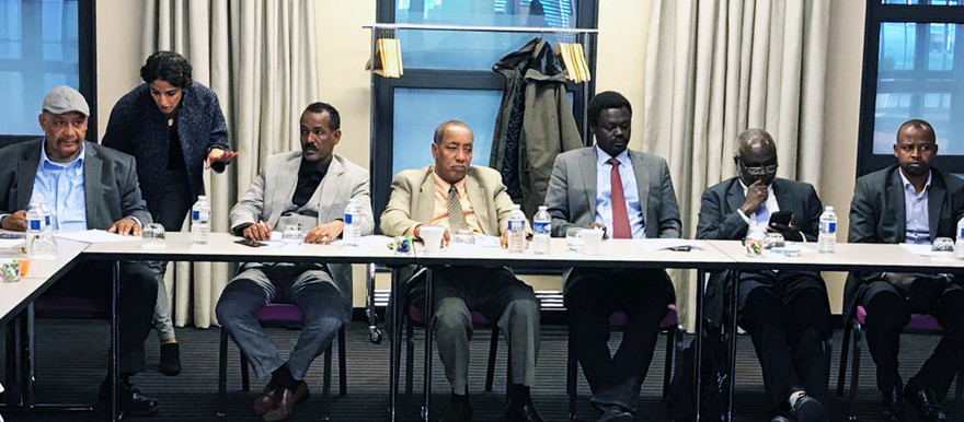 Leaders of the Sudan Revolutionary Front coalition of armed movements at a meeting in Paris last year (File photo: RD Correspondent)