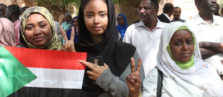 Women protestors in Khartoum in May (not the victim) (RD correspondent)