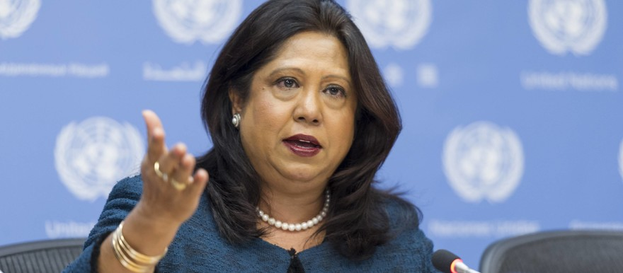 Pramila Patten UN special representative of the secretary-general on sexual violence in conflict (File photo: Rick Bajornas / UN)