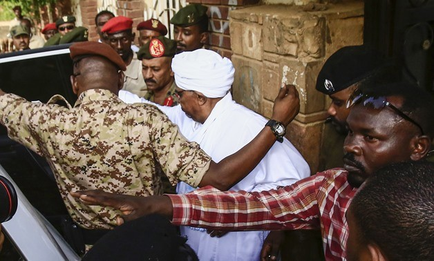 Ousted Sudanese president Omar Al Bashir is transferred from Kober prison to the office of the Public Prosecutor to hear the charges against him (Photo: SUNA)