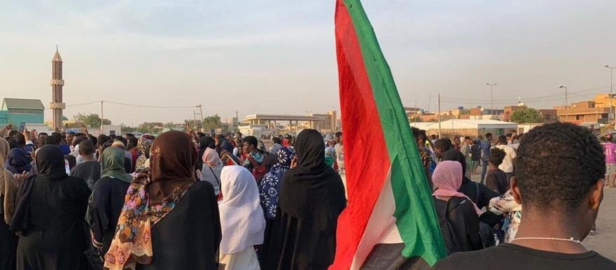 Protest vigil against the military junta in Khartoum North, July 29, 2019 (RD).