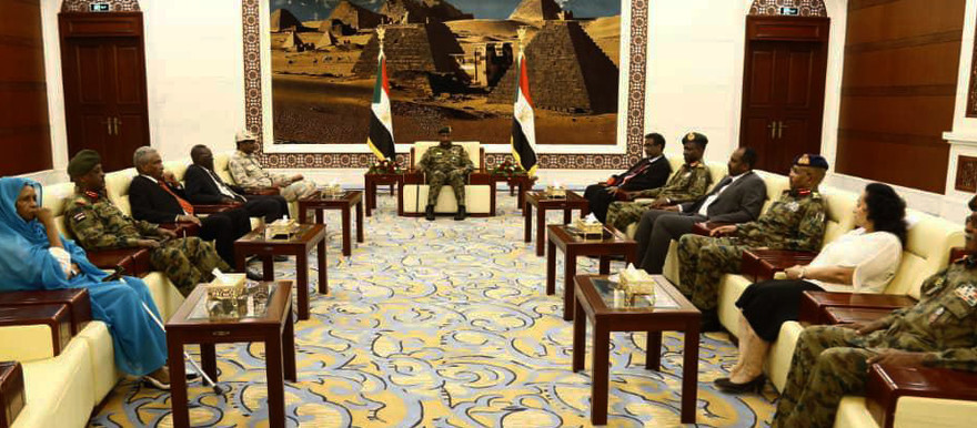 The first meeting of Sudan's new Sovereign Council in Khartoum this afternoon (Picture: SUNA)