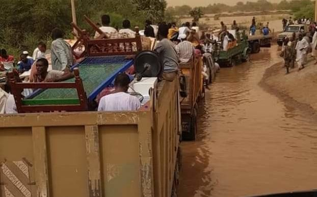 Floods in AlGaili district of Khartoum North (RD)