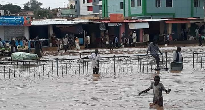 Streets flooding in El Fasher, capital on North Darfur last week (RD)