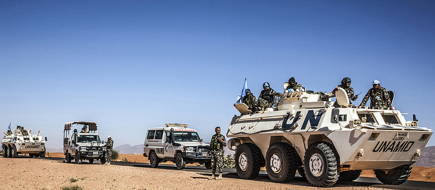Unamid convoy in North Darfur (File photo: Mohamad Almahady/Unamid)