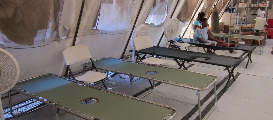 Emergency beds during a cholera epidemic (Flickr)