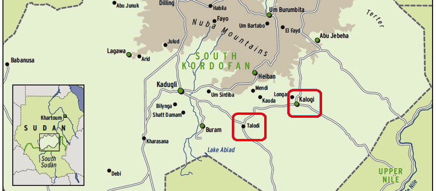 Kalogi and Talodi in South Kordofan (map by smallarmssurveysudan.org)