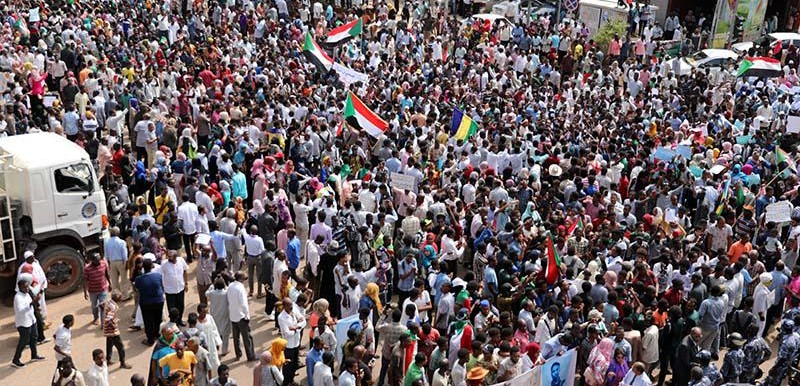 Protest in Khartoum, demanding a swiftappointment of the Chief Justice and the Attorney General (SUNA)