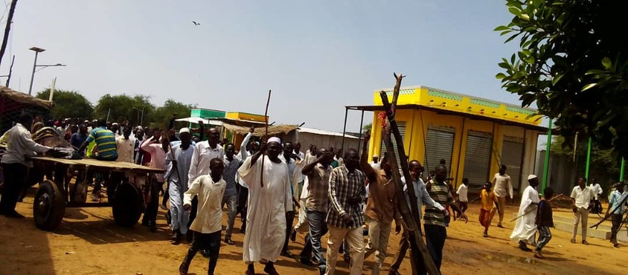 A demonstration against the recent killings by herdsmen in South Darfur in Gireida (RD correspondent)