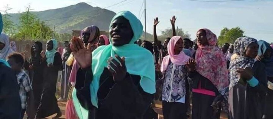 Protestors in Talodi in South Kordofan demand the dismissal of the state governor (RD correspondent)