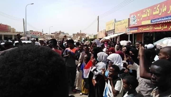 Protest against the detention of three Sudanese youth in Egypt (RD correspondent)