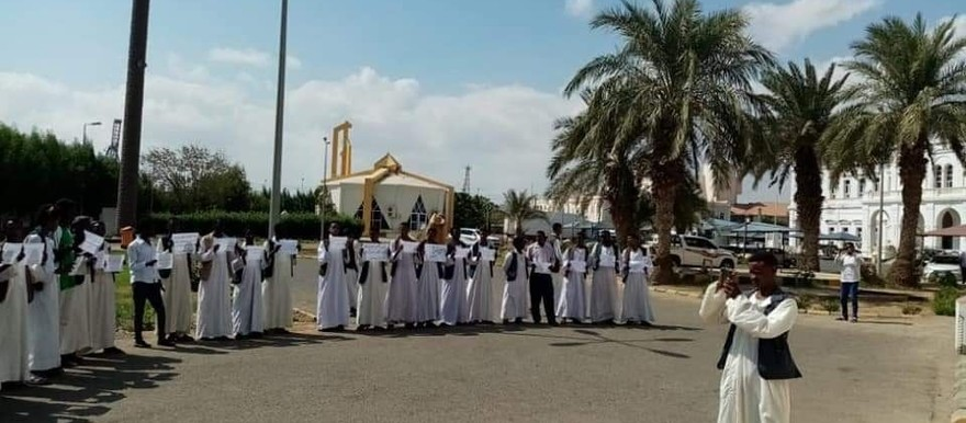 Protest in Port Sudan against Haya locality officials (RD correspondent)