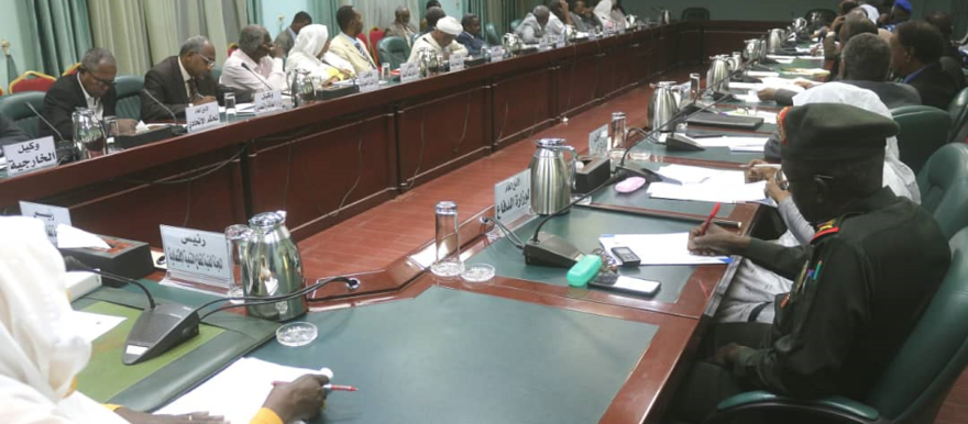 Heads of the Sudanese cabinet's technical committees discuss the implementation of the 2020 budget, Khartoum, November 7, 2019 (SUNA)