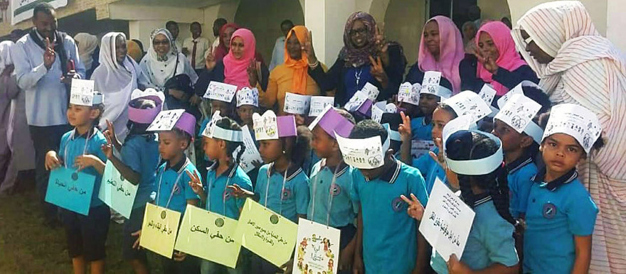 Children march in Khartoum on the occasion of World Children's Day (RD Correspondent)